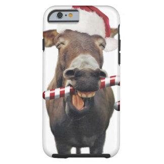 Capa Tough Para iPhone 6 Asno do Natal - asno do papai noel - papai noel do