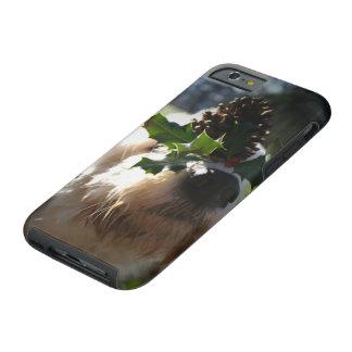 Capa Tough Para iPhone 6 Azevinho de equilíbrio do cão