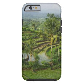 Capa Tough Para iPhone 6 Bali - ricefields e palmas novos do terraço