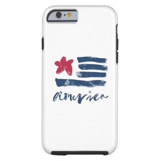Capa Tough Para iPhone 6 Bandeira americana Paintstrokes