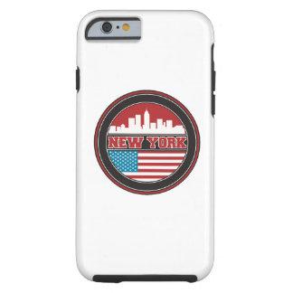 Capa Tough Para iPhone 6 Bandeira dos Estados Unidos da skyline   de New