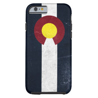 Capa Tough Para iPhone 6 Bandeira escura do Grunge de Colorado
