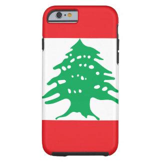 Capa Tough Para iPhone 6 Bandeira nacional do mundo de Líbano
