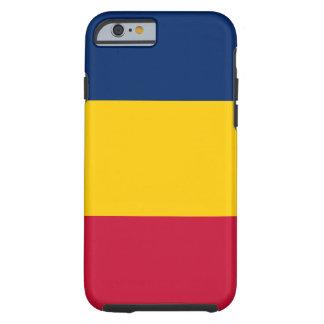 Capa Tough Para iPhone 6 Bandeira nacional do mundo de República do Tchad