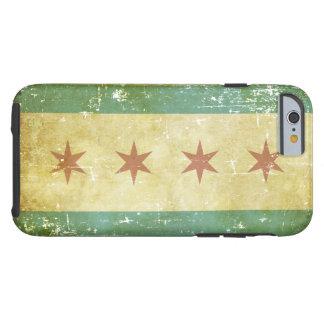 Capa Tough Para iPhone 6 Bandeira patriótica gasta de Chicago
