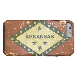 Capa Tough Para iPhone 6 Bandeira patriótica gasta do estado de Arkansas