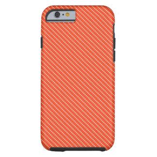Capa Tough Para iPhone 6 Base alaranjada e branca do teste padrão da fibra