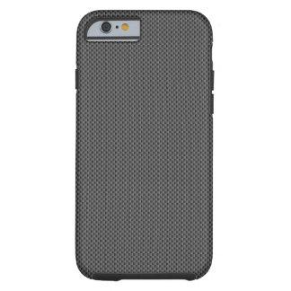 Capa Tough Para iPhone 6 Base preta da fibra do carbono