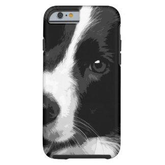 Capa Tough Para iPhone 6 Border collie preto e branco