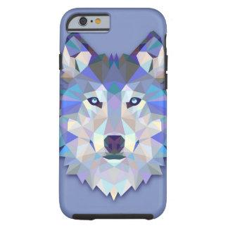Capa Tough Para iPhone 6 Cabeça geométrica do lobo do LOBO DE CRISTAL