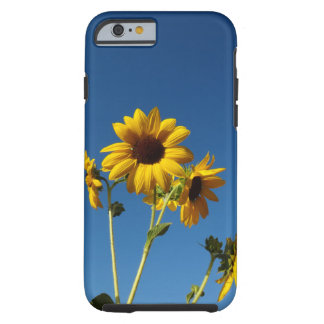 Capa Tough Para iPhone 6 Caixa da foto do girassol & da abelha