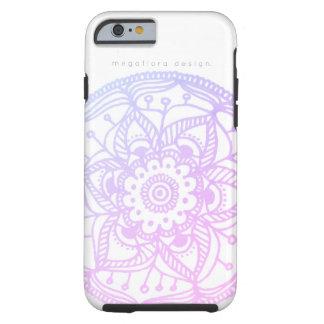 Capa Tough Para iPhone 6 Caixa Pastel cor-de-rosa da mandala pelo design de