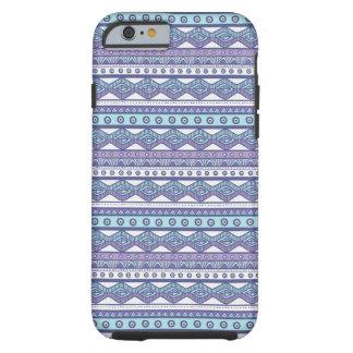 Capa Tough Para iPhone 6 Caixa resistente à moda asteca azul roxa do iPhone