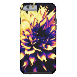 Capa Tough Para iPhone 6 caixa roxa amarela lindo da flor do iPhone 6/6s