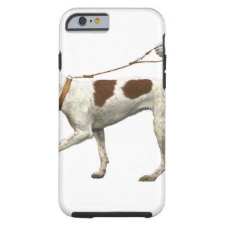Capa Tough Para iPhone 6 Caminhante do cão - cauda do cão - santo Germano