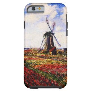 Capa Tough Para iPhone 6 Campos das Monet-Tulipas de Claude