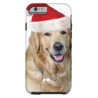 Capa Tough Para iPhone 6 Cão-animal de estimação do cão-papai noel de claus