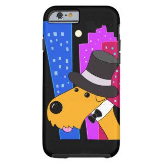 Capa Tough Para iPhone 6 Cão bonito de Airedale Terrier no caso do iPhone