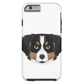 Capa Tough Para iPhone 6 Cão de montanha de Bernese da ilustração