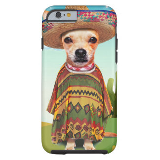 Capa Tough Para iPhone 6 Cão mexicano, chihuahua
