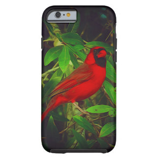Capa Tough Para iPhone 6 Cardeal masculino na árvore