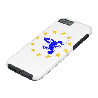 Capa Tough Para iPhone 6 Cartão da união Européia com círculo de estrela