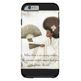 Capa Tough Para iPhone 6 Caso africano do telemóvel do provérbio
