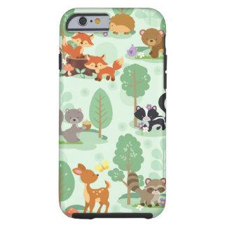 Capa Tough Para iPhone 6 Caso animal do iPhone 6/6S da floresta