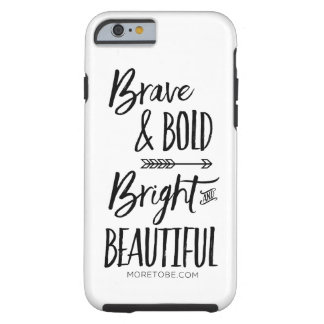 Capa Tough Para iPhone 6 Caso bravo & corajoso, brilhante & bonito do