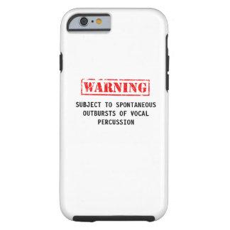 Capa Tough Para iPhone 6 Caso de advertência de Beatboxer
