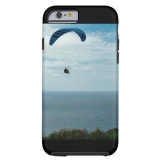 Capa Tough Para iPhone 6 Caso de IPhone 6/6s, praia do preto do glidder do