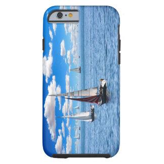 Capa Tough Para iPhone 6 Caso do iPhone 6/6s do barco de vela
