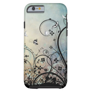 Capa Tough Para iPhone 6 Caso do iPhone 6 dos céus azuis & das borboletas