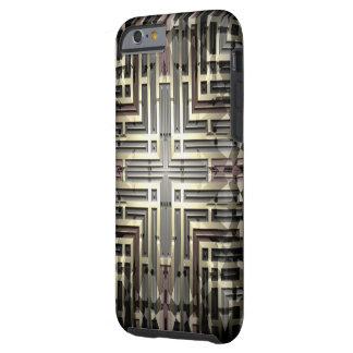Capa Tough Para iPhone 6 Caso resistente de bronze do iPhone 6/6S da grade