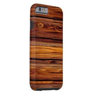 Capa Tough Para iPhone 6 Caso resistente de madeira do iPhone 6/6S do