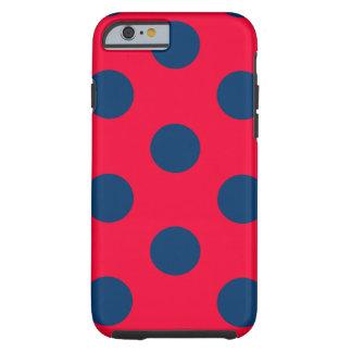 Capa Tough Para iPhone 6 caso resistente do iPhone 6: Bolinhas (vermelho &