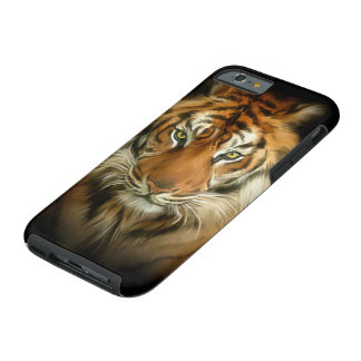 Capa Tough Para iPhone 6 Caso resistente do iPhone 6 do tigre selvagem