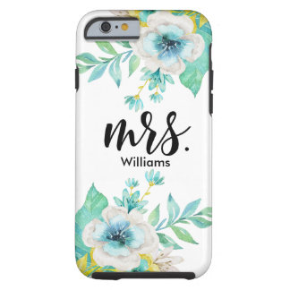 Capa Tough Para iPhone 6 Caso resistente floral do iPhone 6 do vintage