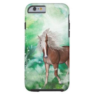 Capa Tough Para iPhone 6 Cavalo bonito no país das maravilhas