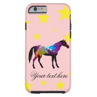 Capa Tough Para iPhone 6 Cavalo de raça personalizado