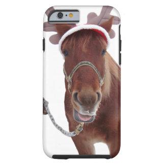 Capa Tough Para iPhone 6 Cervos do cavalo - cavalo do Natal - cavalo