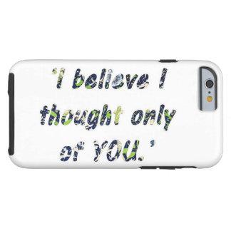 Capa Tough Para iPhone 6 Citações do orgulho e do preconceito