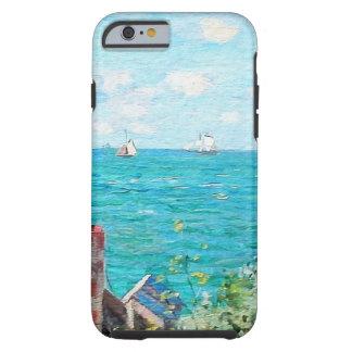 Capa Tough Para iPhone 6 Claude Monet a cabine em belas artes do
