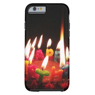 """Capa Tough Para iPhone 6 Colorido, """"velas do feliz aniversario"""" de LitC,"""