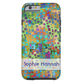 Capa Tough Para iPhone 6 Confetes personalizados, coloridos da arte