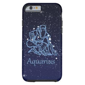 Capa Tough Para iPhone 6 Constelação do Aquário e sinal do zodíaco com