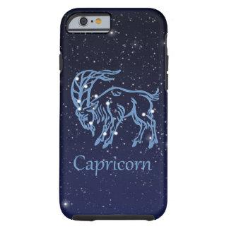 Capa Tough Para iPhone 6 Constelação do Capricórnio e sinal do zodíaco com