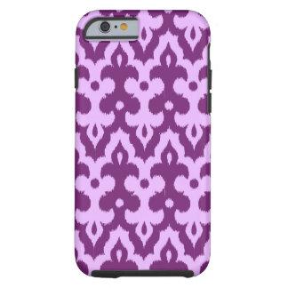 Capa Tough Para iPhone 6 Cor damasco, ameixa e orquídea de Ikat do