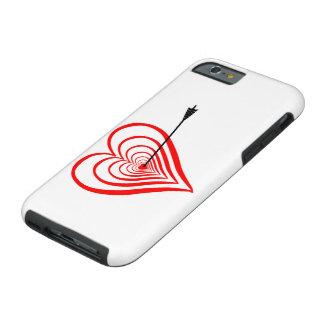 Capa Tough Para iPhone 6 Coração alvo com seta