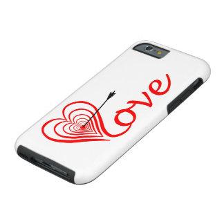 Capa Tough Para iPhone 6 Coração amor alvo com seta